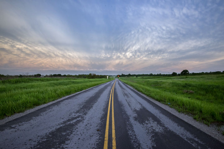 rural road in Missouri
